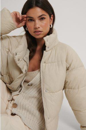 NA-KD Dame Vinterjakker - Elastic Detail Padded Jacket