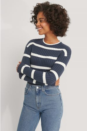 NA-KD Striped Ribbed Knitted Sweater