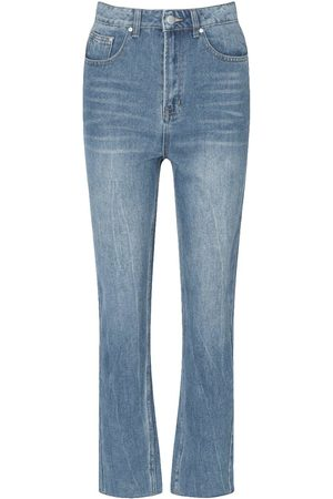 Boohoo Tall Vintage Wash Cropped Straight Jeans