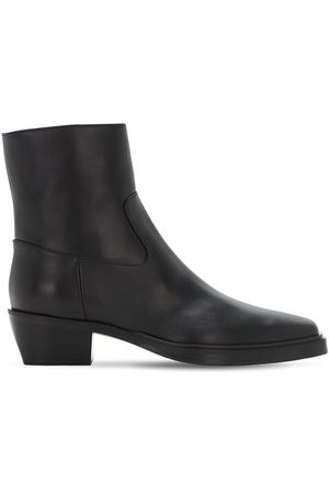 GIA 60mm Leather Western Boots