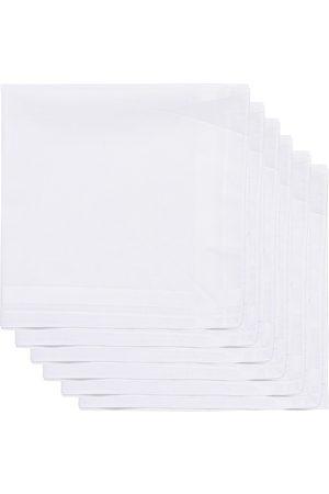 Amanda Christensen Herre Lommetørkler - 6-pack Cotton Pocket Square White