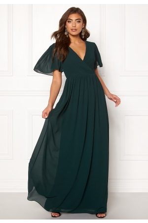Moments New York Liana Chiffon Gown Dark green 42