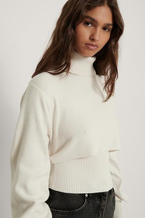 Danaë x NA-KD Cropped Rib Knitted Top