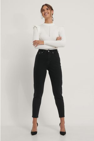NA-KD Raw Hem Mom Jeans