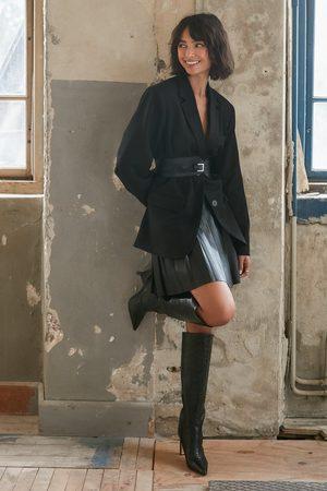 NA-KD Pleated PU Skirt