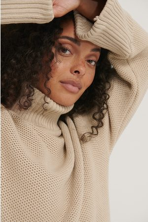 NA-KD Folded High Neck Knitted Sweater