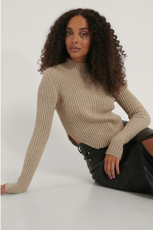 NA-KD Short Knitted Ribbed Sweater