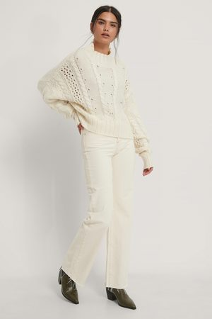 NA-KD Dropped Shoulder Cable Knit Sweater