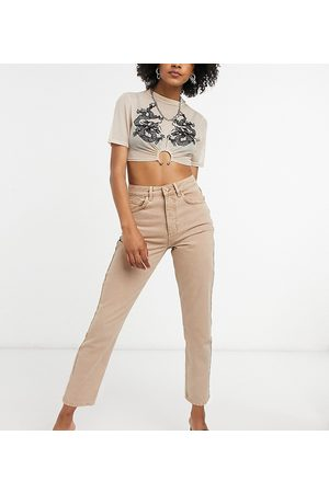 Reclaimed Inspired the 91' mom jean in sand-Neutral
