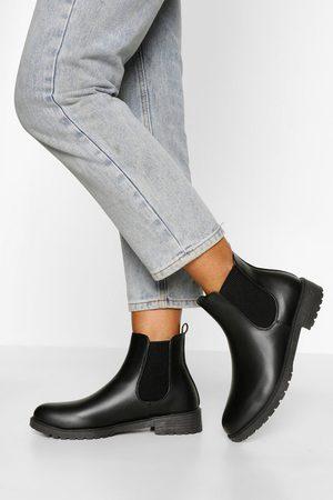 Boohoo Pull On PU Chelsea Boots