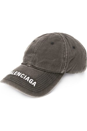 Balenciaga Herre Capser - Embroidered logo denim cap