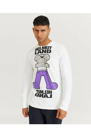 Helmut Lang Herre T-skjorter - Langermet T-shirt Long SLV Tee PZ Mac