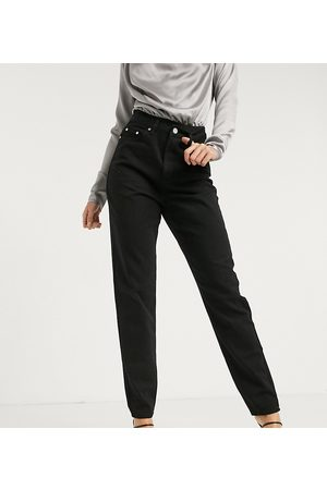 Missguided Dame High waist - Riot highwaisted recycled denim mom jean in black