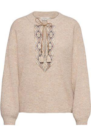 Cream Laracr Knit Pullover Strikket Genser