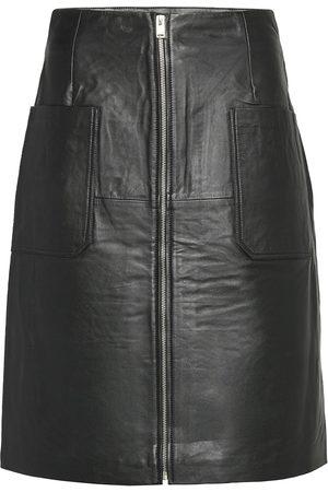 Selected Slfsvea Hw Leather Skirt W Knelangt Skjørt