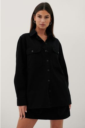 Paola Locatelli x NA-KD Dame Bluser - Organic Denim Pocket Shirt