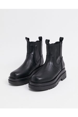 Raid Brazen chunky biker boots in black