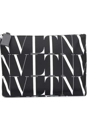 VALENTINO GARAVANI Herre Clutches - Logo-print clutch bag