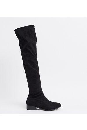 Public Desire Exclusive Elle over the knee boots in black