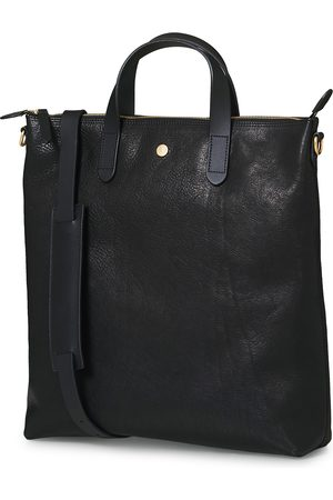 Mismo Herre Tote bags - M/S Leather Shopping Bag Black
