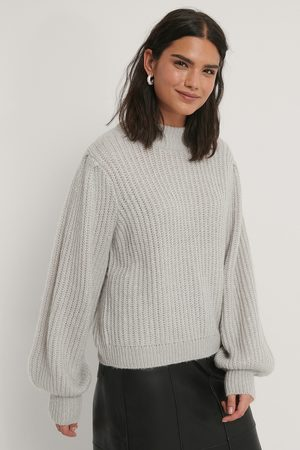 NA-KD Dame Gensere - Puff Sleeve Knitted Sweater