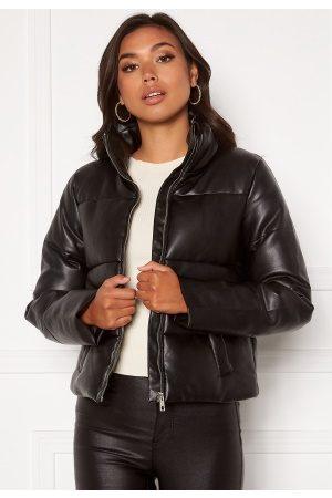 JACQUELINE DE YONG Trixie Faux Leather Jacket Black M