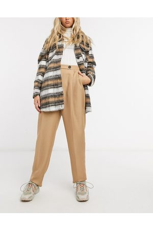 ASOS Dad suit trousers in camel