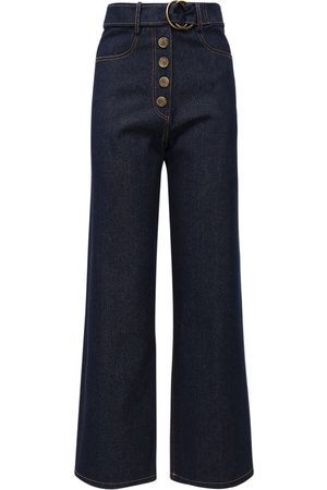 REJINA PYO Emily Wide Leg Cotton Denim Jeans