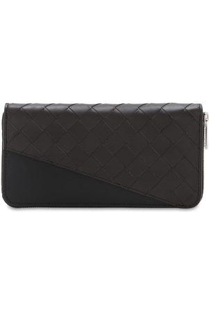 Bottega Veneta Intrecciato Leather Zip Around