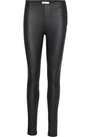 Levete Room Dame Leggings - Lr-Gloria Leather Leggings/Bukser