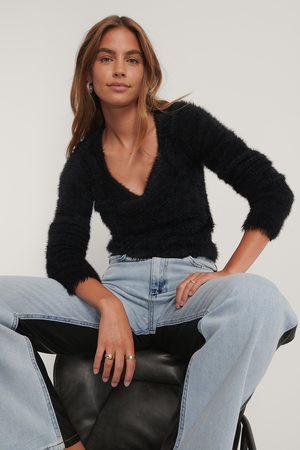 Gine Margrethe x NA-KD Dame Strikkegensere - Fluffy Knit Sweater