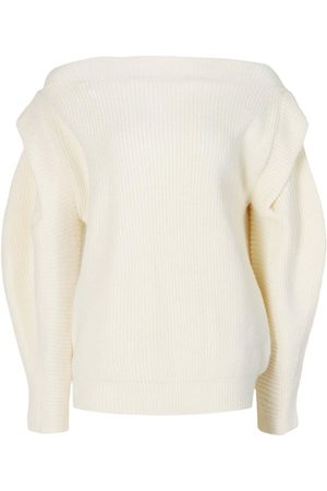 Boohoo Petite Knitted Cap Shoulder Long Sleeve Jumper