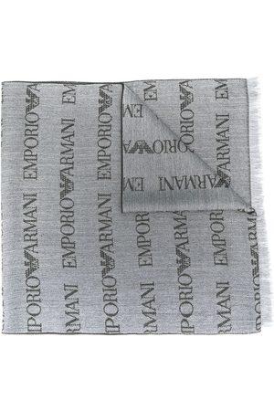 Emporio Armani Herre Skjerf - Logo embroidered scarf