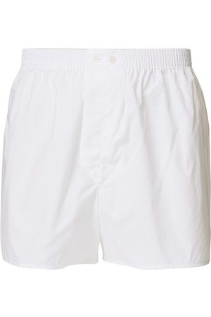 DEREK ROSE Classic Fit Cotton Boxer Shorts White