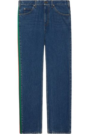 Gucci Side-stripe straight-leg jeans