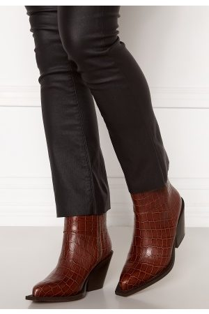Pieces Jean Leather Boot Cognac 39