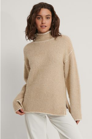 NA-KD Dame Pologensere - Small Stripe Brushed Knitted Sweater