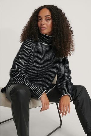 NA-KD Small Stripe Brushed Knitted Sweater