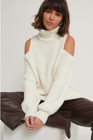 NA-KD Cut Out High Neck Knitted Sweater