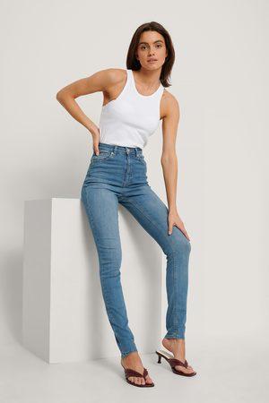 NA-KD Dame High waist - Organic Skinny High Waist Jeans Tall