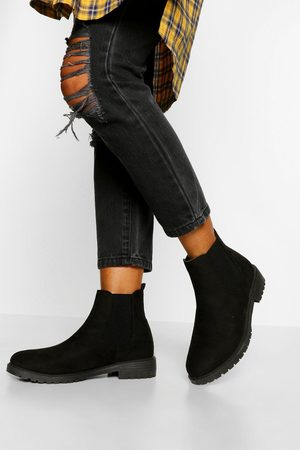 Boohoo Wide Fit Pull On Chelsea Boots