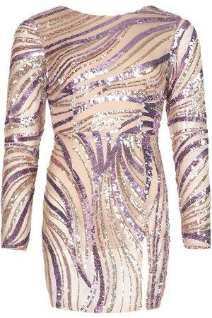 Boohoo Petite Sequin Front Split Mini Dress