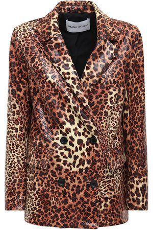 Stand Studio Cassidy Coated Faux Leather Blazer