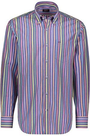 Paul & Shark Herre Langermede - Stripete Skjorte