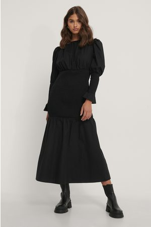 NA-KD Dame Kjoler - Smocked Sleeve Dress