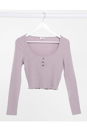 Cotton On Lettuce edge long sleeve top in lilac-Purple