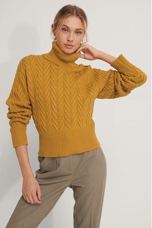 NA-KD High Neck Pattern Knit Sweater