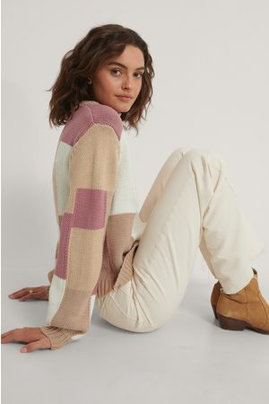 NA-KD Dame Gensere - Multi Color Blocked Knitted Sweater