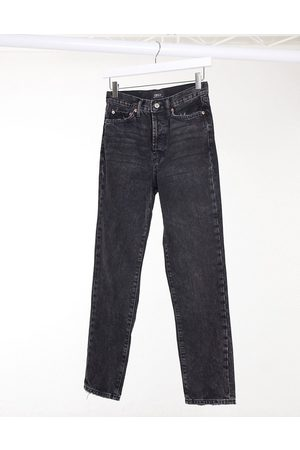 Only Straight leg jeans with high waist in black