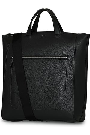 Mont Blanc MST Soft Grain Tote with Zip Black